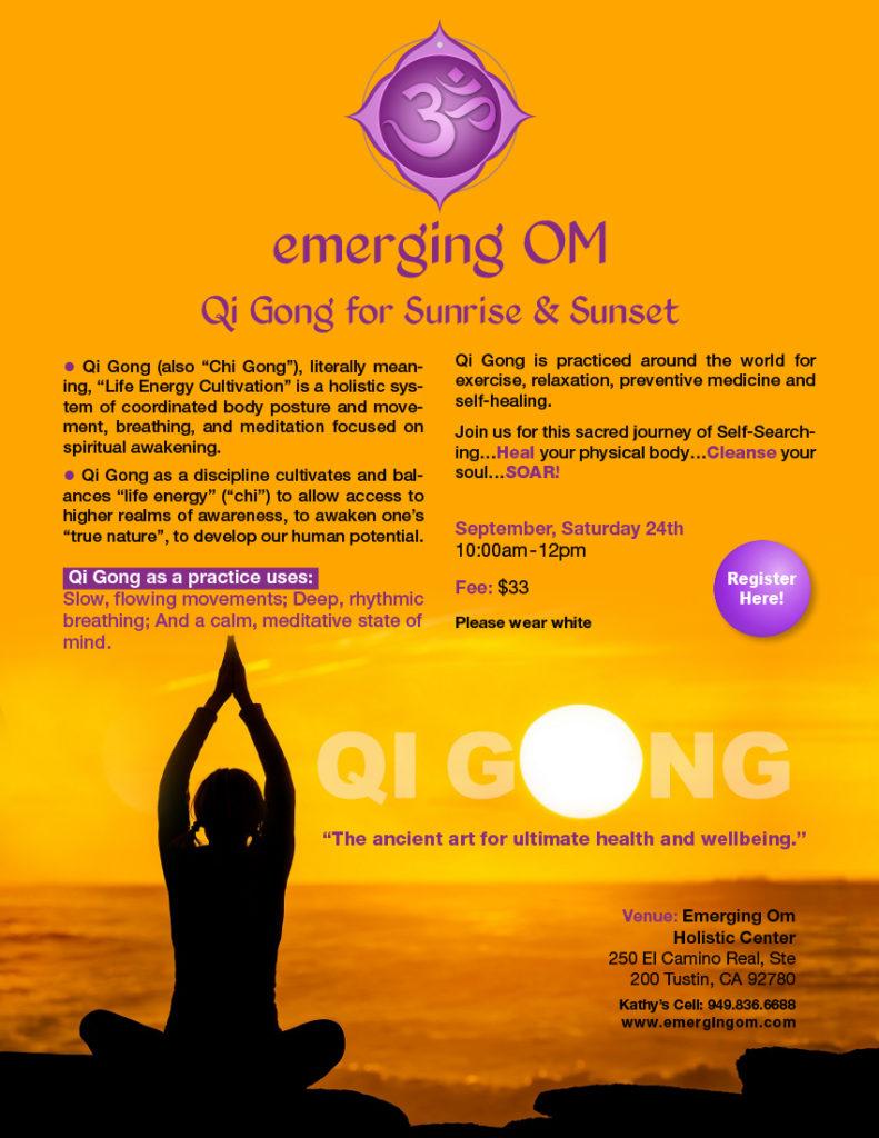Qi Gong for Sunrise & Sunset – Emerging Om